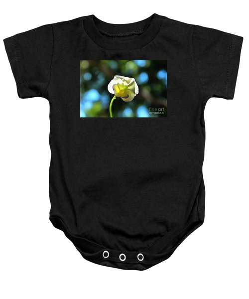 Delicate Pansy Baby Onesie