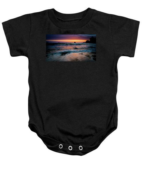 Demartin Beach Sunset Baby Onesie