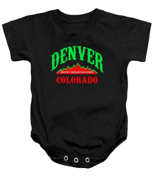Denver Colorado Rocky Mountain Design Baby Onesie