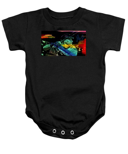 Baby Onesie featuring the mixed media Derek Jeter by Marvin Blaine
