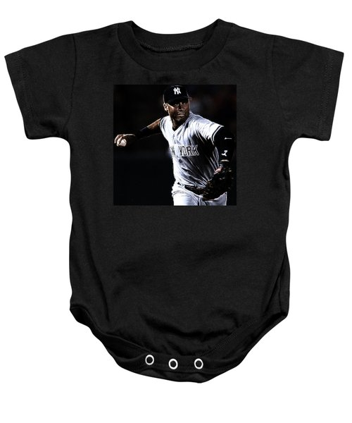 Derek Jeter Baby Onesie by Paul Ward