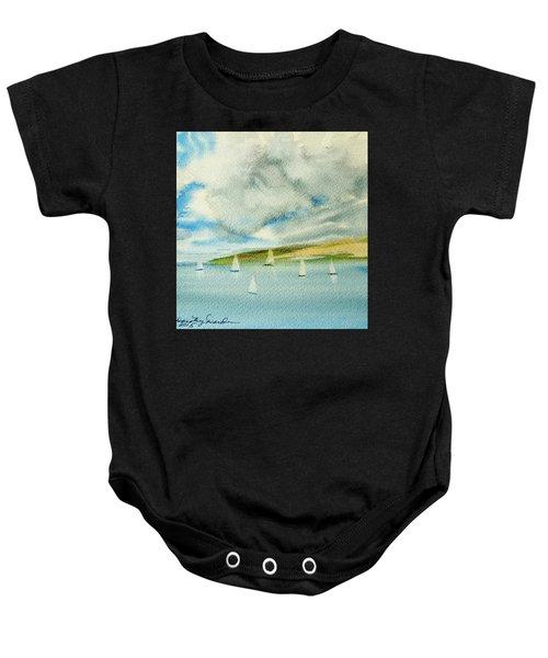 Dark Clouds Threaten Derwent River Sailing Fleet Baby Onesie