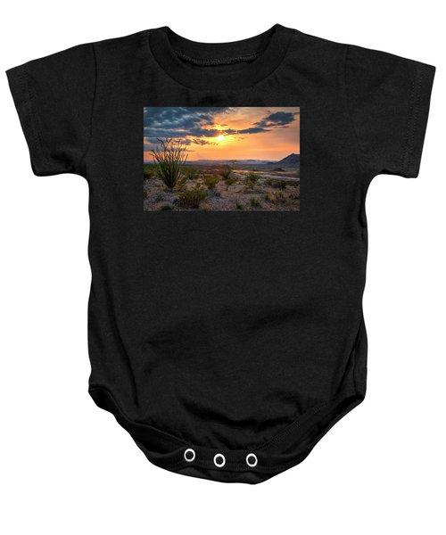 Big Bend Desert Glow II Baby Onesie