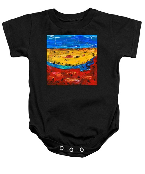Desert Stream Baby Onesie