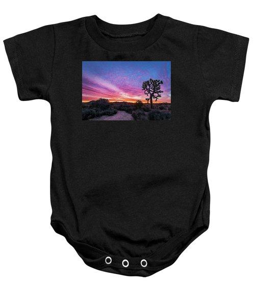 Desert Sunrise At Joshua Tree Baby Onesie