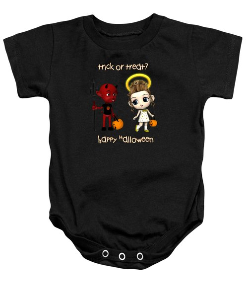 Devil Or Angel Trick Or Treat Baby Onesie