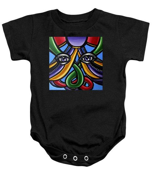 Colorful Eye Art Paintings Abstract Eye Painting Chromatic Artwork Baby Onesie