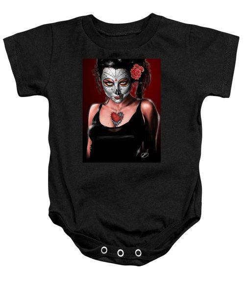 Dia De Los Muertos The Vapors Baby Onesie
