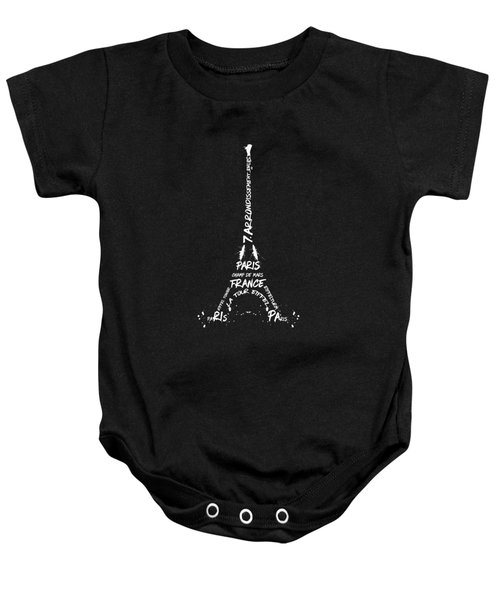 Digital-art Eiffel Tower - Panoramic Baby Onesie