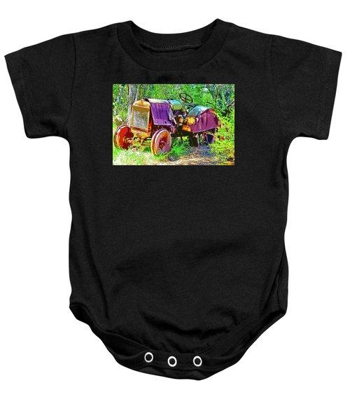 Dilapidated Tractor Baby Onesie