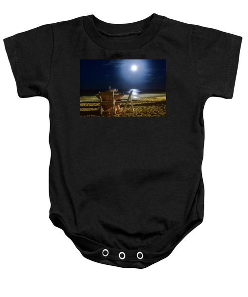 Dinner For Two In The Moonlight Baby Onesie