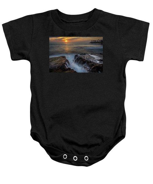 Diver's Cove Sunset Baby Onesie