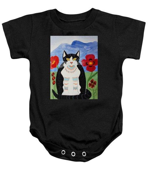 Diwali Tux Cat Baby Onesie