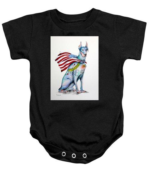 Doberman Napolean Baby Onesie