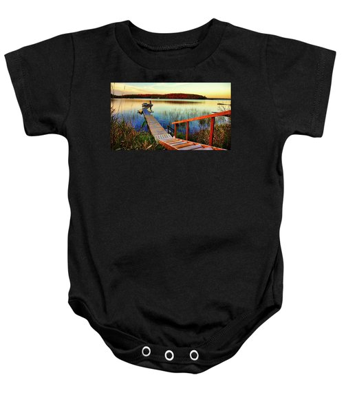 Dock At Gawas Bay Baby Onesie