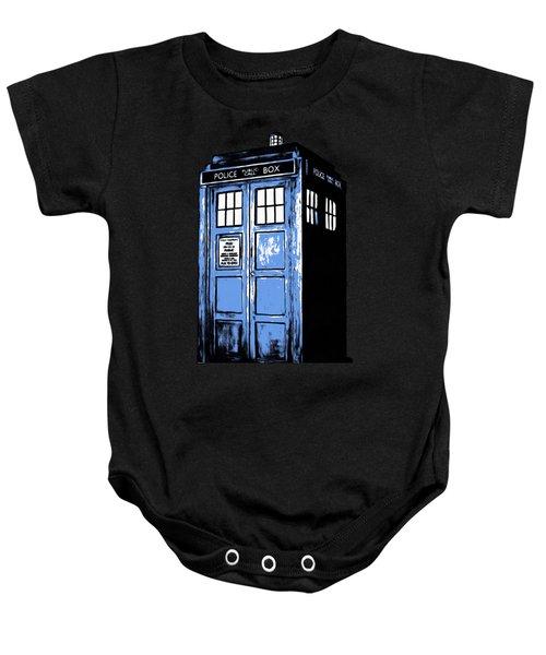 Doctor Who Tardis Baby Onesie by Edward Fielding