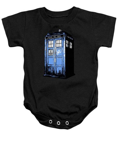 Doctor Who Tardis Baby Onesie