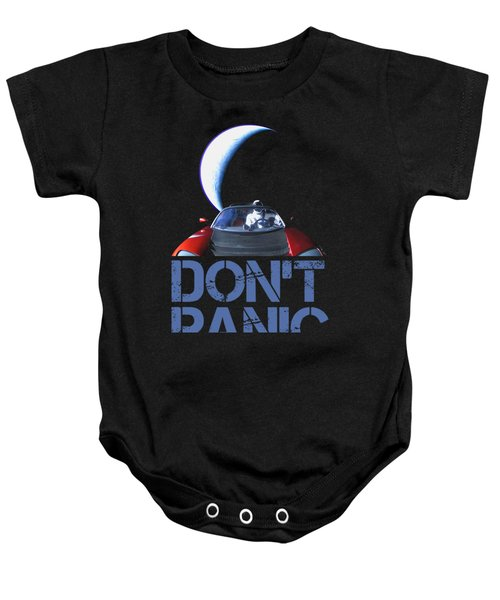 Don't Panic Starman Baby Onesie