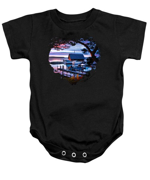 Door County Anderson Dock Sunset Baby Onesie