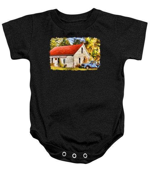 Door County Gus Klenke Garage Baby Onesie