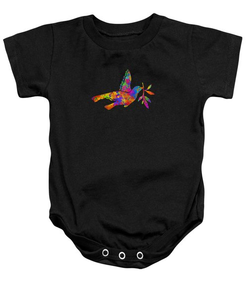 Dove With Olive Branch Baby Onesie