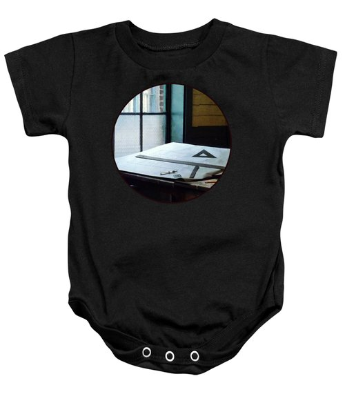 Drafting - Triangle Ruler And Compass Baby Onesie