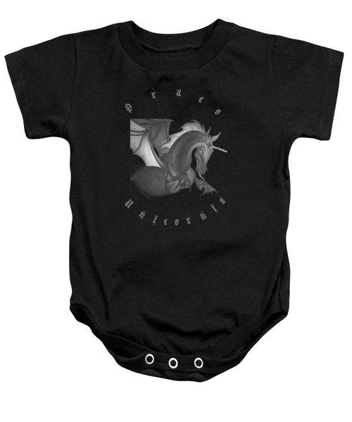 Dragon Unicorn  Baby Onesie