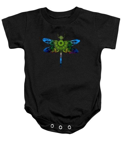 Dragonfly Kaleidoscope Baby Onesie