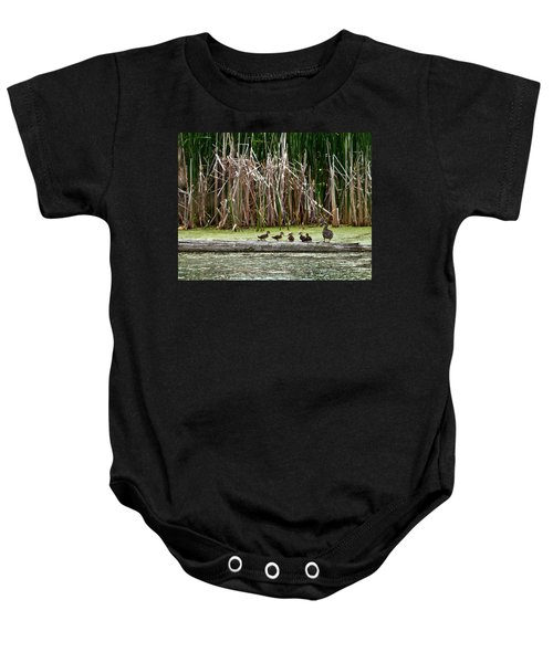 Ducks All In A Row Baby Onesie