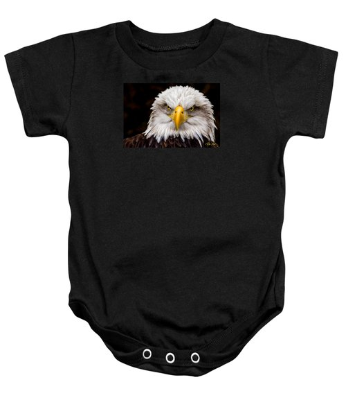 Defiant And Resolute - Bald Eagle Baby Onesie