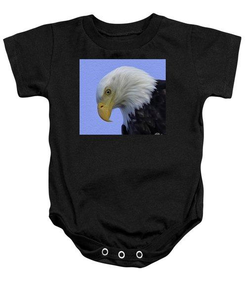 Eagle Head Paint Baby Onesie