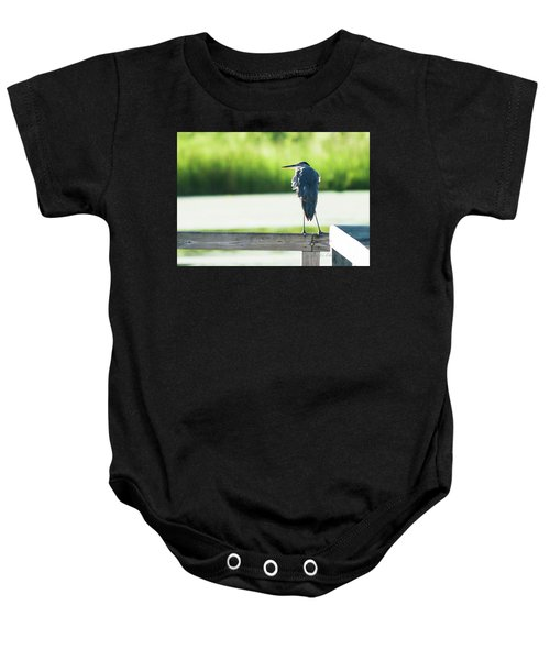 Early Morning Great Blue Heron Baby Onesie
