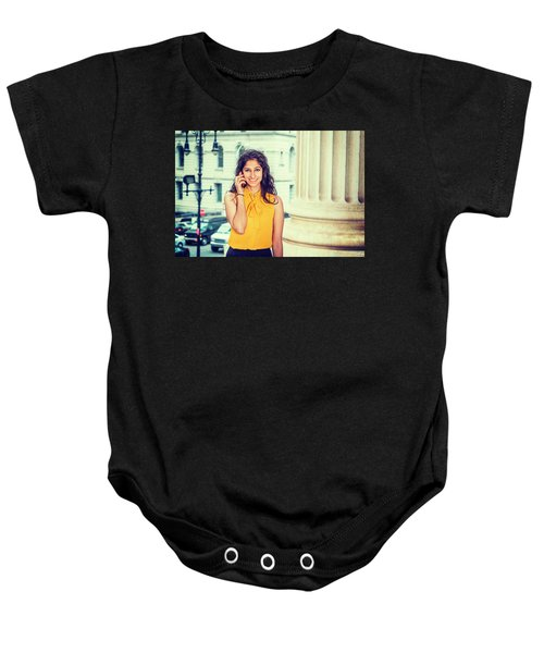 East Indian Woman Calling Outside Baby Onesie