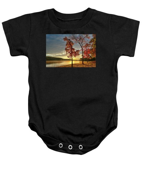 East Texas Autumn Sunrise At The Lake Baby Onesie