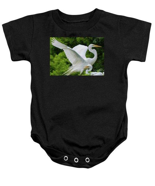 Egret Family Baby Onesie