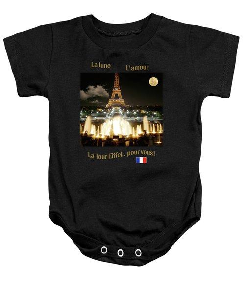 Eiffel Tower At Night Baby Onesie