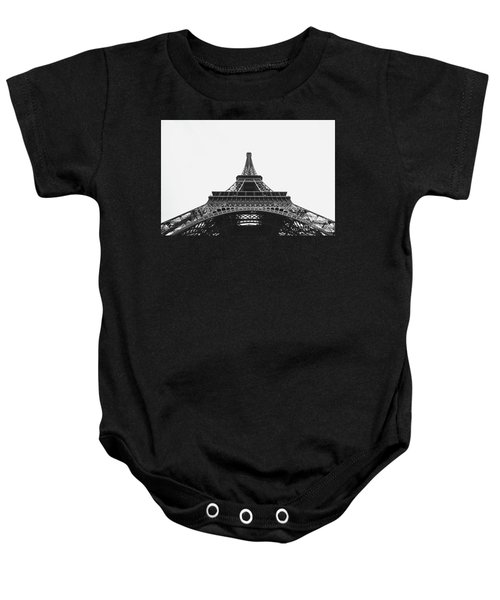 Baby Onesie featuring the photograph Eiffel Tower Perspective  by MGL Meiklejohn Graphics Licensing