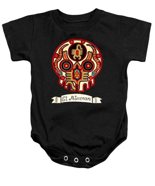 El Alacran - The Scorpion Baby Onesie by Mix Luera