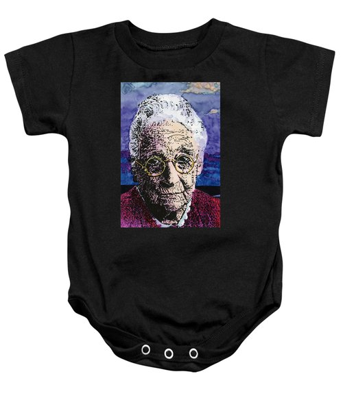 Elderly Woman Baby Onesie