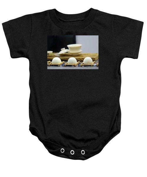 Elegant Chinese Tea Set Baby Onesie