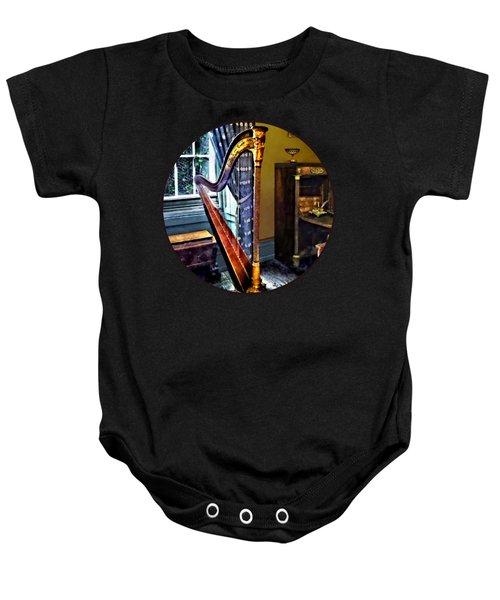 Elegant Harp Baby Onesie