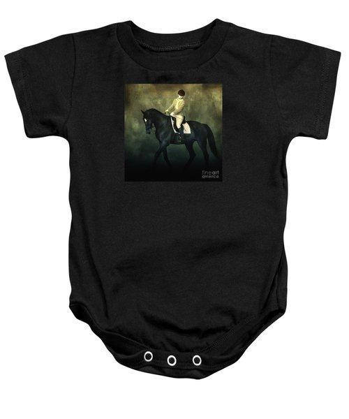 Elegant Horse Rider Baby Onesie