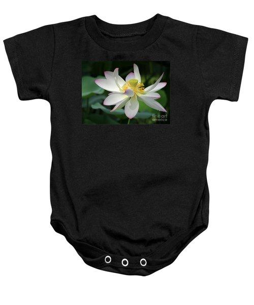 Elegant Lotus Baby Onesie
