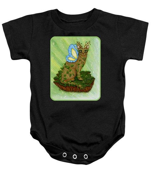 Elemental Earth Fairy Cat Baby Onesie