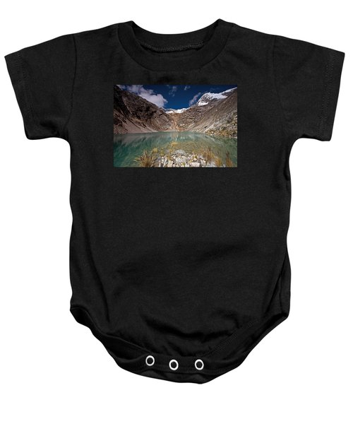 Emerald Mountain Lake Baby Onesie