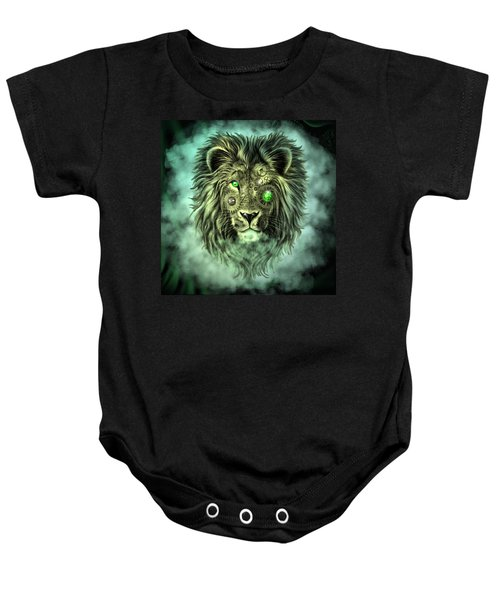 Emerald Steampunk Lion King Baby Onesie