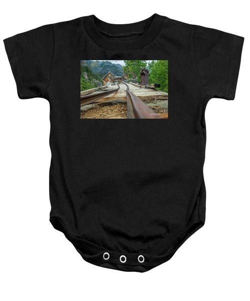 Empty Tracks Baby Onesie