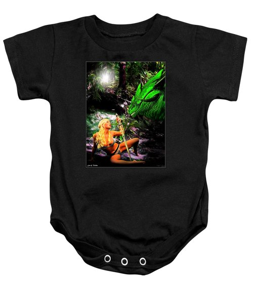 Encounter With A Dragon Baby Onesie