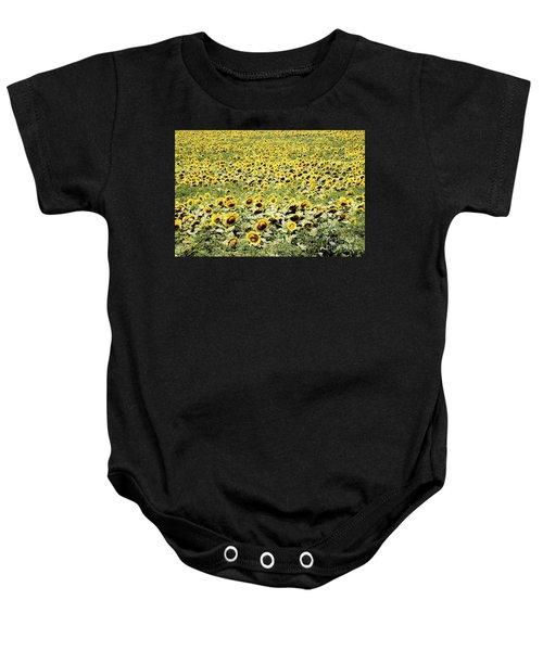 Endless Sunflowers Baby Onesie