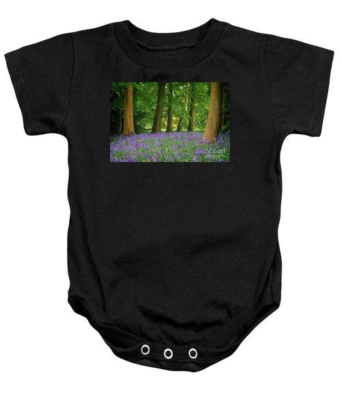 English Bluebell Woodland Baby Onesie